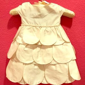Silk petal girls formal dress